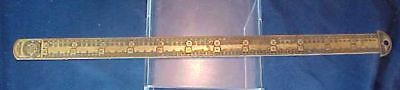 Vintage Brass Printers Type Setters Ruler H. B. Rouse & Co.