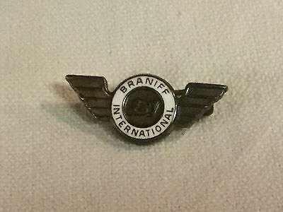 Rare Vintage BRANIFF INTERNATIONAL AIRWAYS Service Award Pin in Sterling