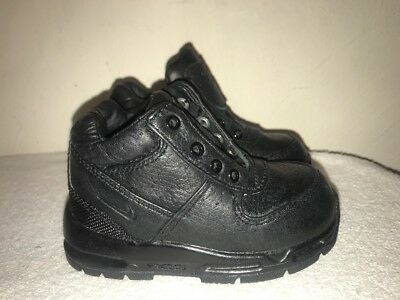 d82f8df51878 Nike Air Max Goadome Toddler ACG Black Leather Boots 311569-001 Size 6C  Unisex