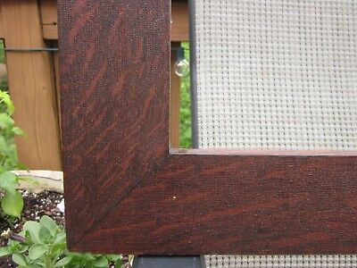 1900 Beautiful Dark Fumed QUARTER SAWN TIGER OAK Mission Arts Crafts 16 x 20 Frm
