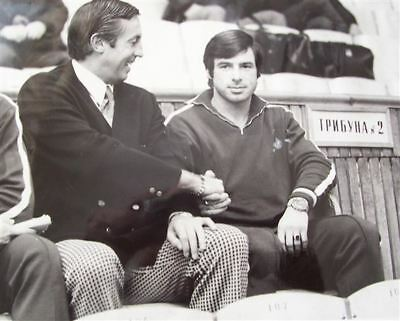 Jean Beliveau with Valeri Kharlamov Team CCCP, Russia 8x10 Photo
