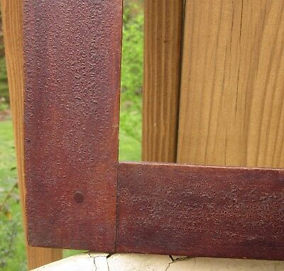c1840 Excellent AMERICAN Oxblood Red GRAIN PAINTED Folk Primitive FRAKTUR Frame