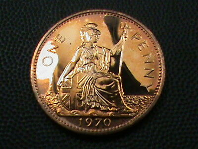 GREAT BRITAIN   1 Penny   1970   PROOF   ,    $ 2.99  maximum  shipping  in  USA