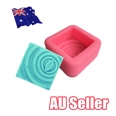 Square Leaf Silicone Soap Molds Soap Making Molds Craft Art Resin Mould Tool EA