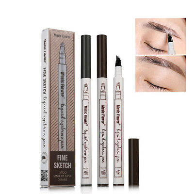 Patented Microblading Eyebrow Tattoo Pen Waterproof Fork Tip Sketch Makeup Ink