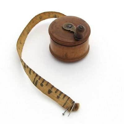 Antique Sewing Tape Measure Figural Fishing Reel