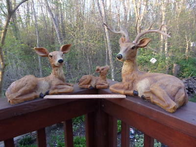 Deer Family-Buck, Doe And Fawn - Resin