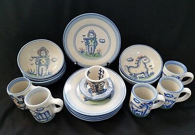 M A HADLEY Luncheon Set for Five (5) Country