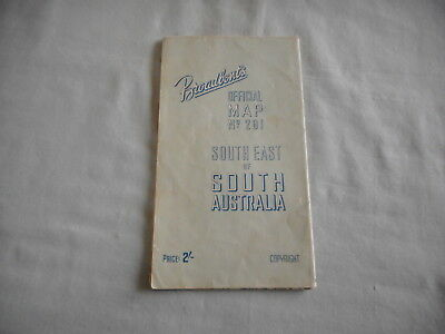 Vintage Map Broadbent's Official Map No 201: South East Of South Australia