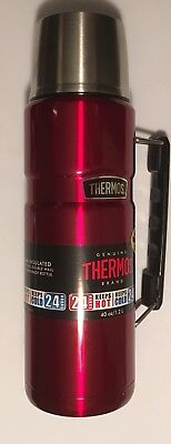 Thermos King Stainless 40-oz Vacuum-Insulated Food/Beverage Bottle Tumbler Red