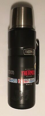 THERMOS 40oz Wide Mouth Food OR Beverage Vacuum Insulated Bottle NEW BLACK