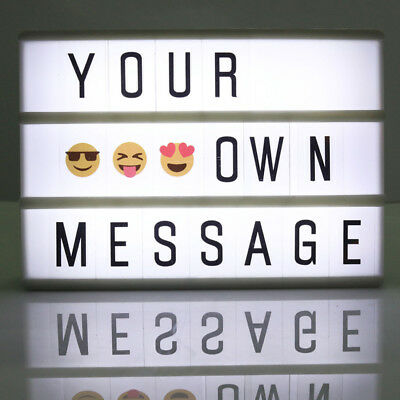 DIY Cinema Mood Light Box With LED Letters A6 Size Free Combination Cinematic