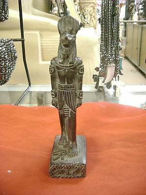 Unique Hand Carved Egyptian Goddess Sekhmet Statue  Made in Egypt