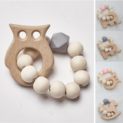 Baby Bracelet Jewelry Teething For Baby Organic Wood Baby Accessories Toys D9