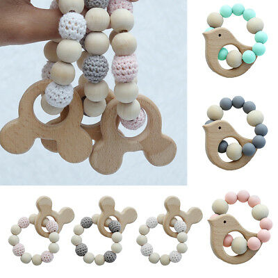 Baby Jewelry Teething For Baby Organic Baby Rattle Stroller Accessories Toys D9