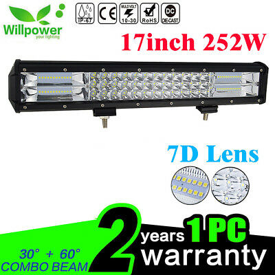 7D 18inch 252W LED Work Light Bar Offroad Truck 4WD Boat SUV UTE Driving Lamp