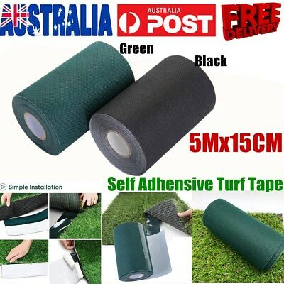5M Synthetic Grass Tape Self Adhesive Artificial Turf Tape Lawn Carpet Glue Peel