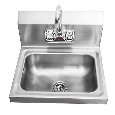 Sapphire Manufacturing NSF Wall-Mount Stainless Steel Hand Sink 17 Inch x 15 x