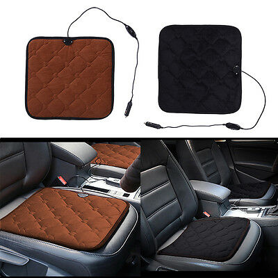 Electric Car Seat Heated Cushion Heater Pad Switch Carbon Fiber 12V 24W