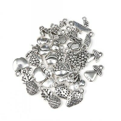 50pcs Mixed Antique Tibetan Silver Fruits Charm Pendant DIY Jewelry Making Craft