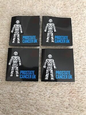 4x MEN UNITED PROSTATE CANCER Pin badges £11.98 *OFFICIAL PCUK FUNDRAISERS*