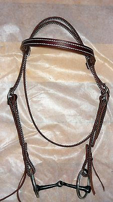 Leather Bridle Australian Leather Bridle Western Riding Trail Riding ful size.C7