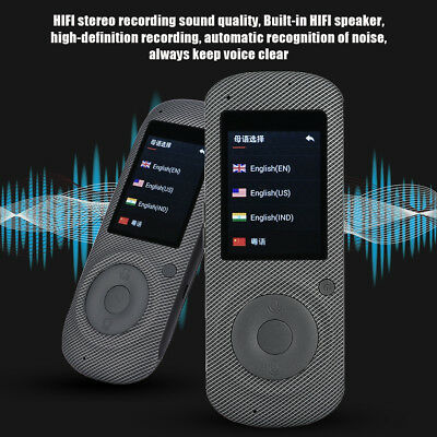 Professional 2.4in Real Time WIFI Voice Translator 16 Language Translation l