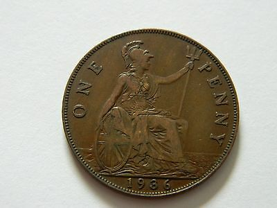 GREAT BRITAIN UK 1936 One Penny Higher Grade Details INV09
