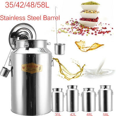 AU 35/42/48/58L Non-magnetic Seal Tank Milk Churn 201 Stainless Steel Barrel