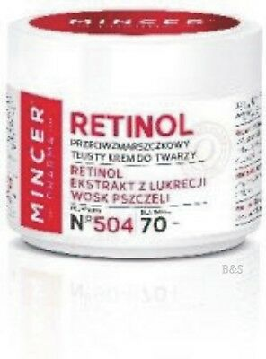 Mincer Pharma RETINOL Antifalten fettige Tagescreme  N°504 50 ml 70 +