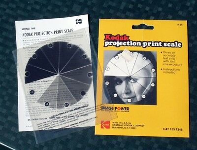 Kodak Projection Print Scale for Instant Hit Exposure Testing  With Instructions