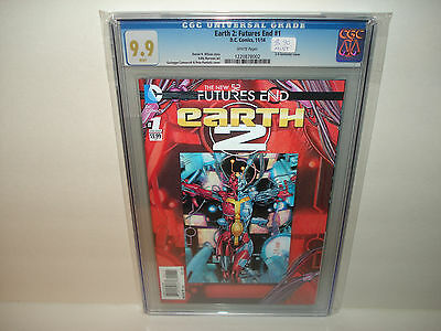 Earth 2: Futures End #1  CGC 9.9  Mint  Awesome cover !!!
