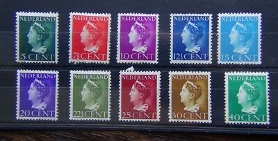 Netherlands 1940 values to 40c MNH