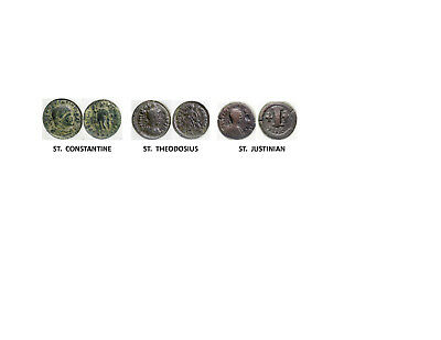 3 coin set - ROMAN EMPERORS WHO BECAME SAINTS {AUTHENTICITY GUARANTEED}
