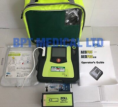 ZOLL AED PRO, CASE, BATTERY, PADS Rescue Ready ALL PERFECT CONDITION UK