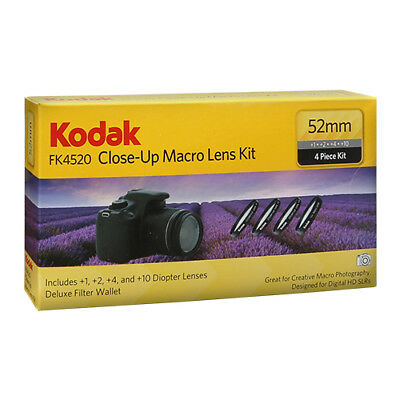 Kodak 52mm Close Up Macro Lens Kit for Nikon 18-55mm AF-S, 55-200mm, 50mm f/1.8D