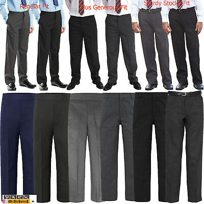 Boys Kids Children Back To School Quality Uniform Trousers Pants Age 1 To 13