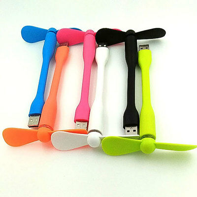 Flexible Bendable Portable USB Mini Fan Cooler For USB Laptop Detachable.