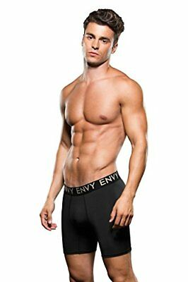 Envy Piccolo/Medio Mens nero Baci Micro Low Rise Logo Athleti Boxer S/M