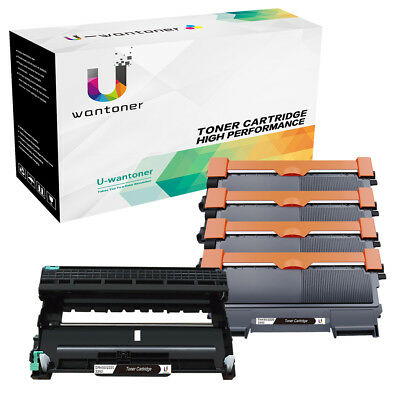 4PK Toner Cartridge +1PK Drum for Brother TN450 HL2230 MFC-7460DN 7360N FAX 2840