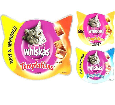 Dreamies 8/16 Packs of 60g, Cheese and Chicken Flavours Cat, Kitten Treats