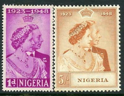 Nigeria 1948 Silver Wedding Set SG62/3 MM - see desc