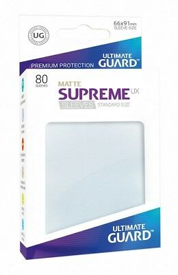 80 x Ultimate Guard Supreme UX Sleeves Standard Size Matte Frosted - UK Seller