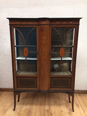 Vintage Inlaid Display Cabinet
