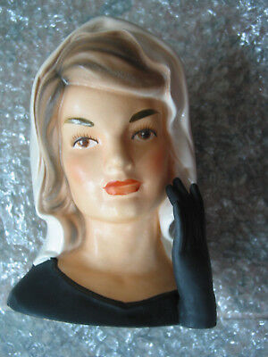 Vintage Jackie Kennedy 6 Inarco E 1852 Head Vase In Morning 1964