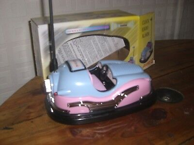 bumper car  radio  blue and pink vintage 50s style