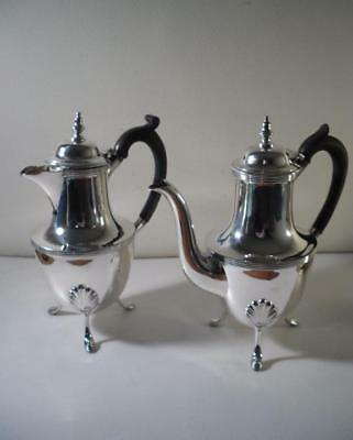 An Antique Two Piece Silver 'Cafe Au Lait' Set : Sheffield 1898