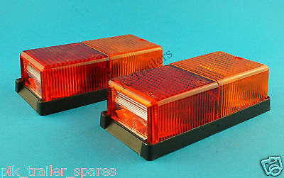 2 x Perei Oblong 4 Way Rear Lamp for Trailers & Horsebox