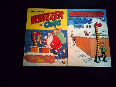 Whizzer And Chips Annuals x 2 1984/1985 Vintage U.K Comic