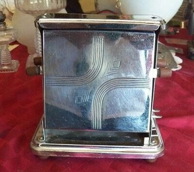 Antique Toaster, Electric, Universal, 2 Slice Manual Toaster, With Wood Knobs